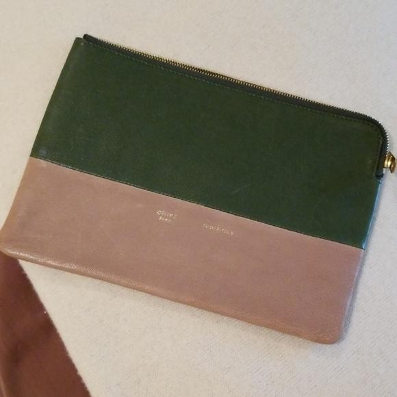 Celine Handbags - Celine Solo Leather Clutch Pouch